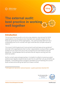 The external audit: best practice in working well together