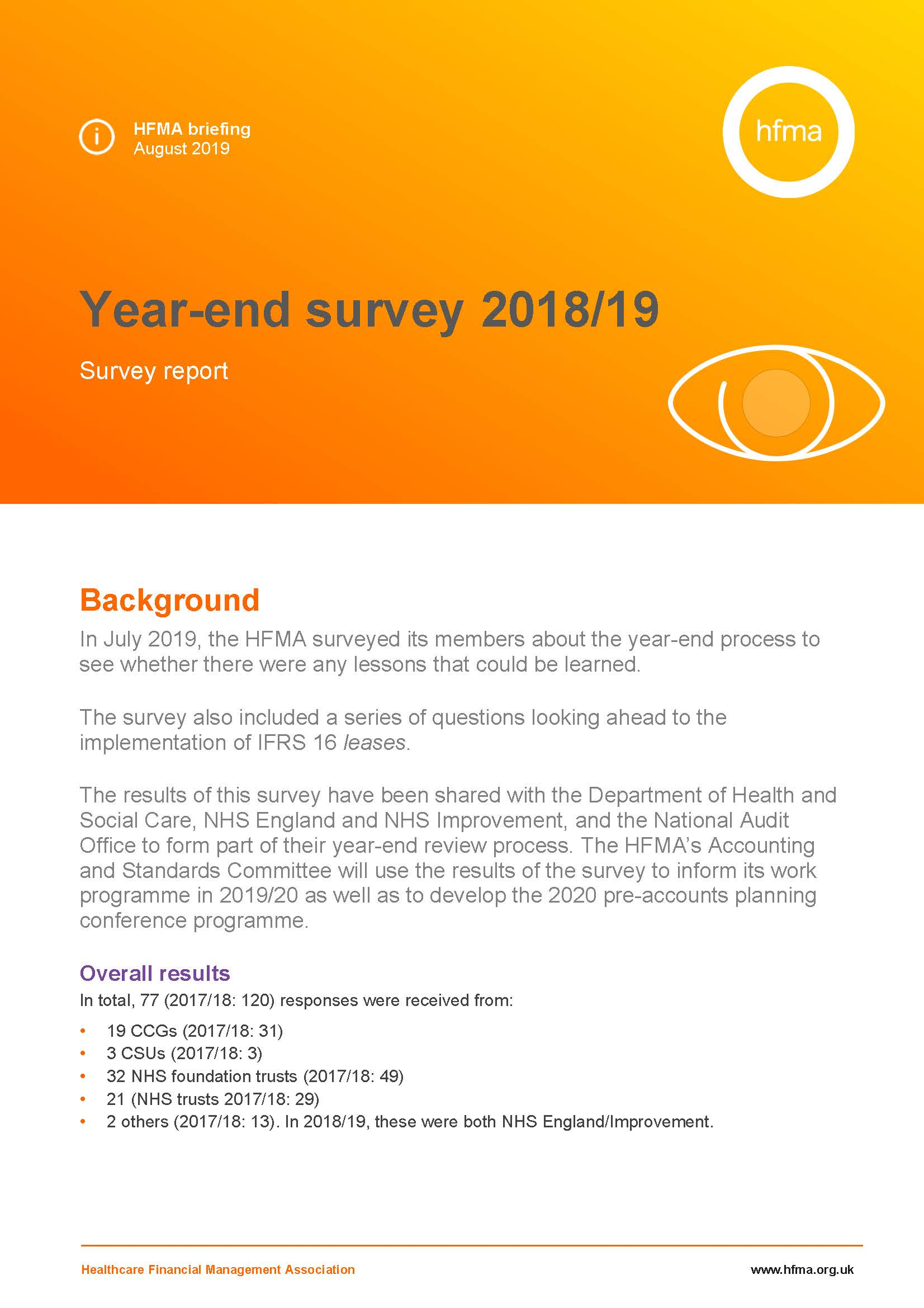 Year-end survey 2018/19