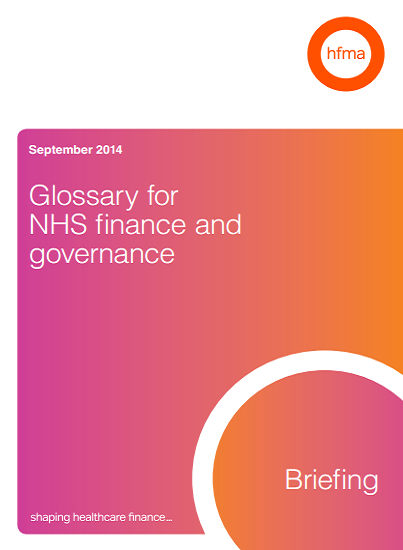 Glossary for NHS finance and governance