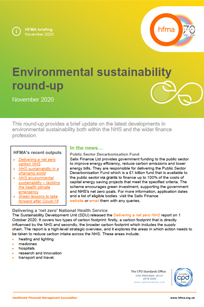 HFMA Environmental sustainability round-up