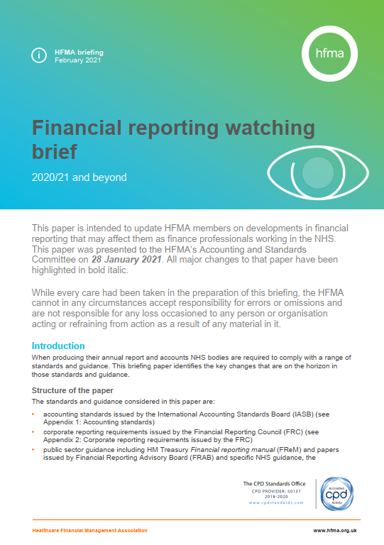 Financial reporting watching brief 2020/21 and beyond (March 2021 update)
