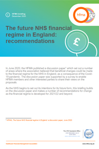 The future NHS financial  regime in England: recommendations (full report)